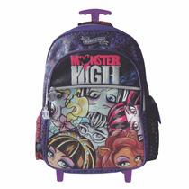 Mochila Carro Monster High 18 Pulgadas Original Mundo Manias