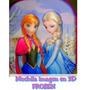 Mochila Frozen Con Imagen 3d 30 Cm Hermosa!!