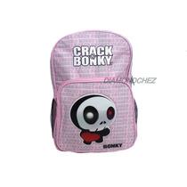 Mochila Primaria Nena Color Rosa Crack Bonky
