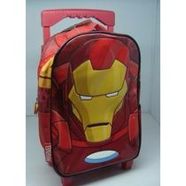 Mochila Iron Man 12 Pulgadas Con Carro Sp586