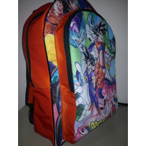 Mochilas Impresas Aventure Time Regular Show Y Dragon Ball Z