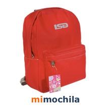 Mochilas Lsd Colores Lisos - Originales - Ofertas!!