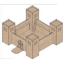 Castillo Medieval Fuerte Fortaleza Mdf Fibrofacil Para Armar