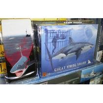Tiburon Blanco Maqueta Armar Pintar & Colgable Cuadro Madera