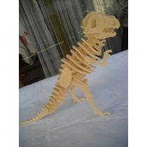 Dinosaurios De Madera Para Armar 25 Cm Alto Varios Modelos