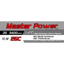 Bateria Lipo 11.1v 3400mah 25c - Masterpower