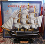 Barco De Madera Velas De Tela Charles Morgan