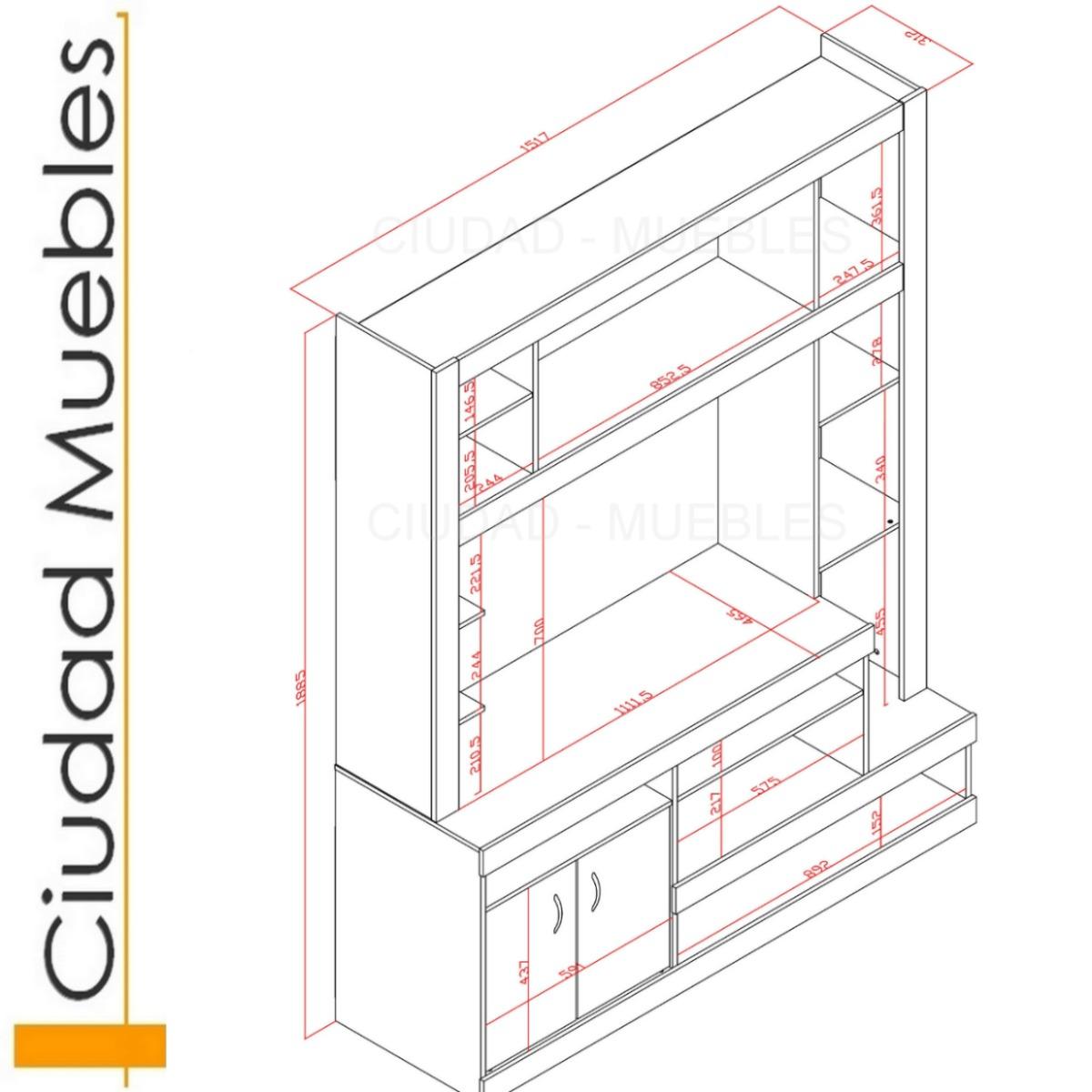 Medidas para hacer un mueble para tv for Dimensiones mesa escritorio
