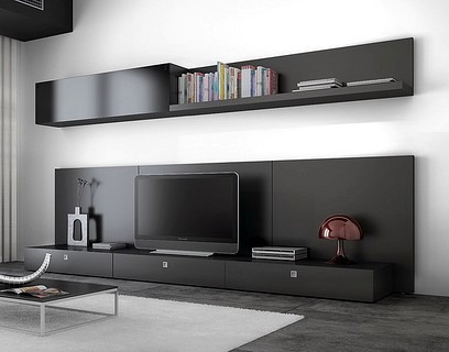 Muebles tv on pinterest tv wall units modern tv room and tv for Muebles para tv modernos
