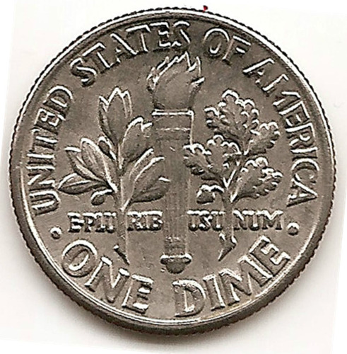 Moneda Estados Unidos De One 1 Dime 10 Cent.año1982 D Escasa