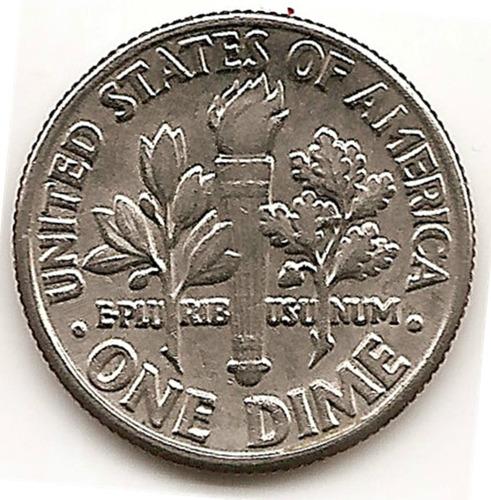 Moneda Estados Unidos De One 1 Dime 10 Cent.año1982 D Escasa