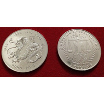 Moneda Horoscopo Chino Dragon - Somalilandia 5 Dolares