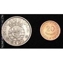 Coleccion 2 Monedas De Mozambique - Sin Circular