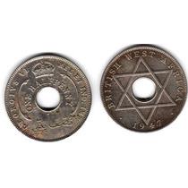Moneda British West Africa Año 1947 De 1/2 Penny Muy Buena