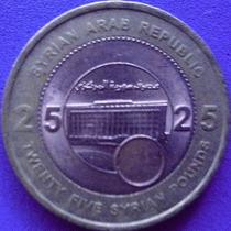 Spg - Syria 25 Pound 2003 Bimetalica.