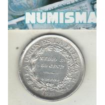 Bolivia Moneda De 50 Centavos De Plata 1899 C B Km 161.5 Xf