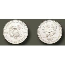 Moneda De Plata Sesquicentenario Bolivia