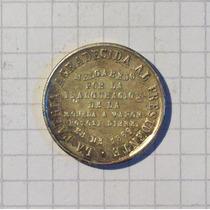 Medalla Bolivia Plata 1869 Melgarejo 9,2 Gr. 25 Mm