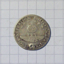 Bolivia 1 Sol Plata 1830 Linda