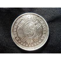 Bolivia 50 Centavos De Plata 1895.f7/15