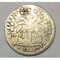 Moneda Bolivia 1 Sol 1861 Fj. Plata