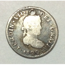 Moneda Potos 1/2 Real 1822. Fernando Vii. Plata