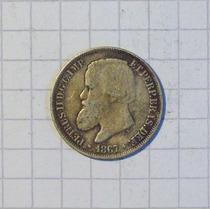 Brasil 200 Reis Plata 1867