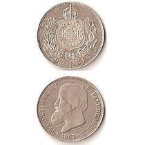 Moneda Brasil 200 Reis 1867 De Plata