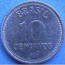 Spg - Brasil 10 Centavos De Cruzado 1986.