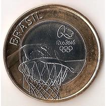 Brasil, Real, 2015. Juegos Olimpicos. Bimetalica. Bu
