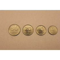 Brasil - Cruzeiros, Lote De 4 Monedas