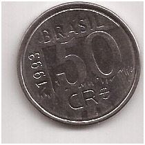 Brasil Moneda De 50 Cruzeiro Reais Año 1993
