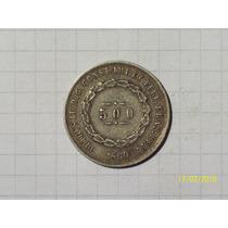 Brasil 500 Reis 1860 Plata Muy Linda