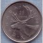 Canada 25 Cents 2008 * Alce * Elizabeth Ii *