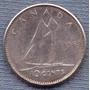 Canada 10 Cents 1962 Plata * Elizabeth Ii *