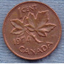 Canada 1 Cent 1974 * Hoja De Maple * Elizabeth Ii *