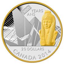 Moneda Canada 100 Aniversario Museo Ontario 1oz. Plata ,999