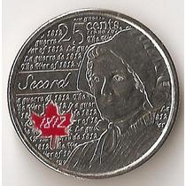 Canada, 25 Cents, 2013. Guerra 1813, Secord. Color. Unc