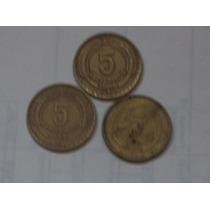 Lote Monedas 5 Centavos Chilenos..
