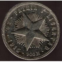 Cuba 20 Centavos 1915 Exc-