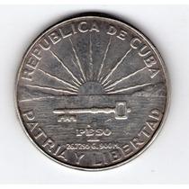Cuba 1 Peso De Plata Año 1953 Centenario De Marti