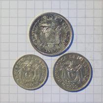 Ecuador 20-50 Centavos Y 1 Sucre Lote
