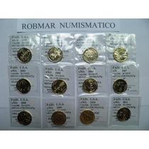 Robmar-usa-1 Quarter-conmemorativo Bañado Oro 24k C/u Elejir