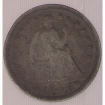 Estados Unidos Usa 1/2 Dime 1854 Plata Mb-