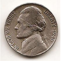 Moneda Estados Unidos De 5 Centavos.five Cents Año1946