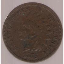 Estados Unidos Usa 1 Cent 1875 Mb+