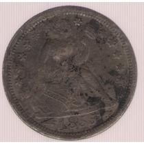 Estados Unidos Usa 1 Dime 1855 Exc-