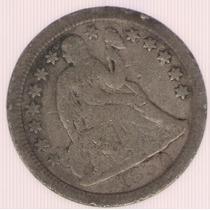 Estados Unidos Usa 1 Dime 1850 Mb-