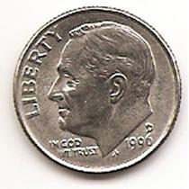 Moneda Estados Unidos De One 1 Dime 10 Centavos Año1996 D