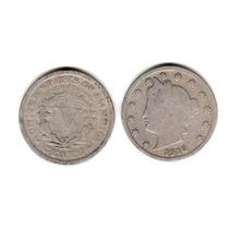 Moneda Estados Unidos De 5 Centavos Año 1910 Buena-